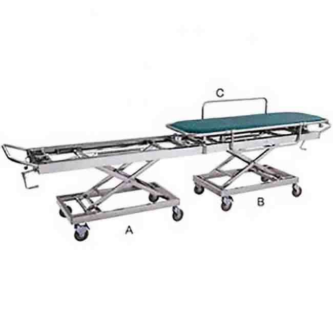 Transfer Stretcher Cum Medical Trolley Stainless Steel