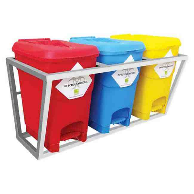 Waste Segregation Trolley Furniture for hospital use